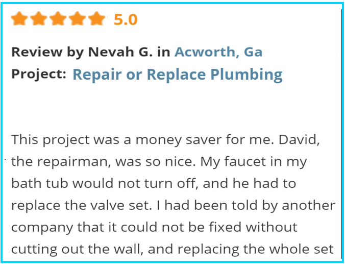 Valu-Rite Plumbing reviews Acworth Ga