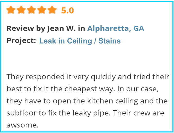 Valu-Rite Plumbing reviews Alpharetta Ga