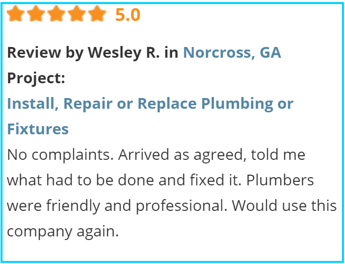 Valu-Rite Plumbing reviews Atlanta Ga