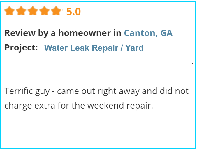 Valu-Rite Plumbing reviews Canton Ga