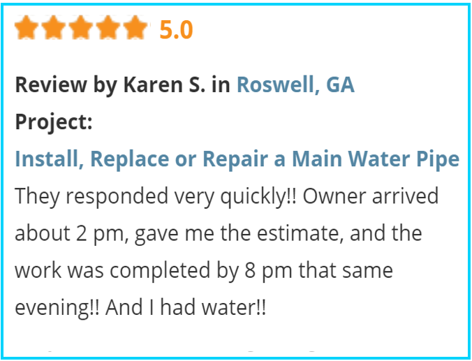 Valu-Rite Plumbing reviews Roswell Ga